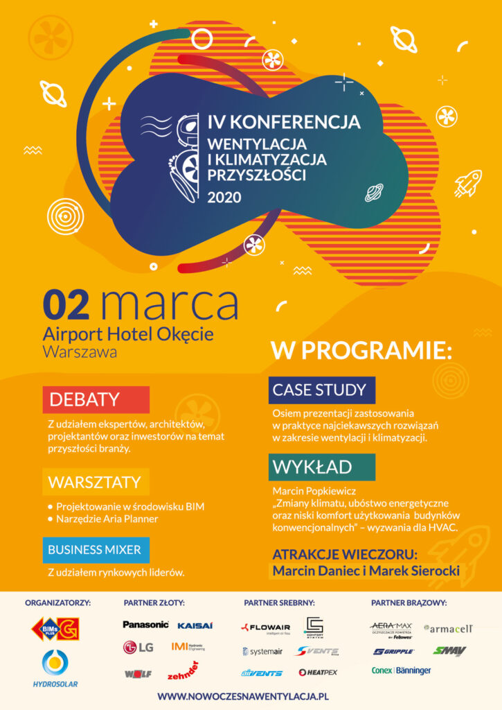 IV Konferencja Wentylacja i Klimatyzacja Przyszłości Plakat