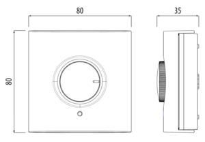 TRINNITY TRHTR‐RF(20) - Bezprzewodowy, dobowy regulator temperatury sieci - rysunek