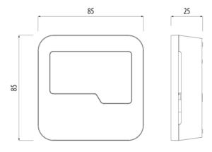TRINNITY TRHTRS-RF(30) - Bezprzewodowy, dobowy regulator temperatury sieci