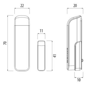 Czujnik otwarcia okna / drzwi sieci ZigBee TRINNITY TRSW600