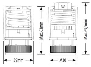 Siłownik termoelektryczny - TRINNITY TRT30NC230V