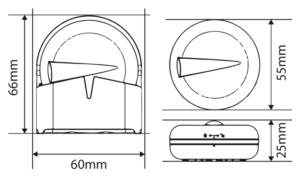 TRINNITY TRWLS600 - Czujnik zalania sieci ZigBee